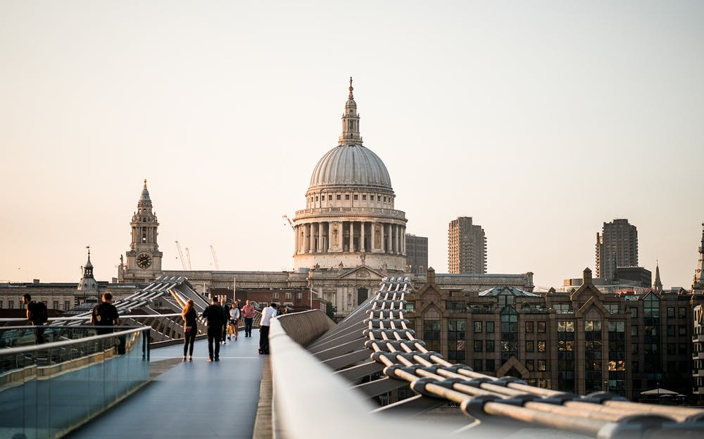 London Explorer Pass 5 Attraction - St Paul's Cathedral, as seen from Millenium Bridge