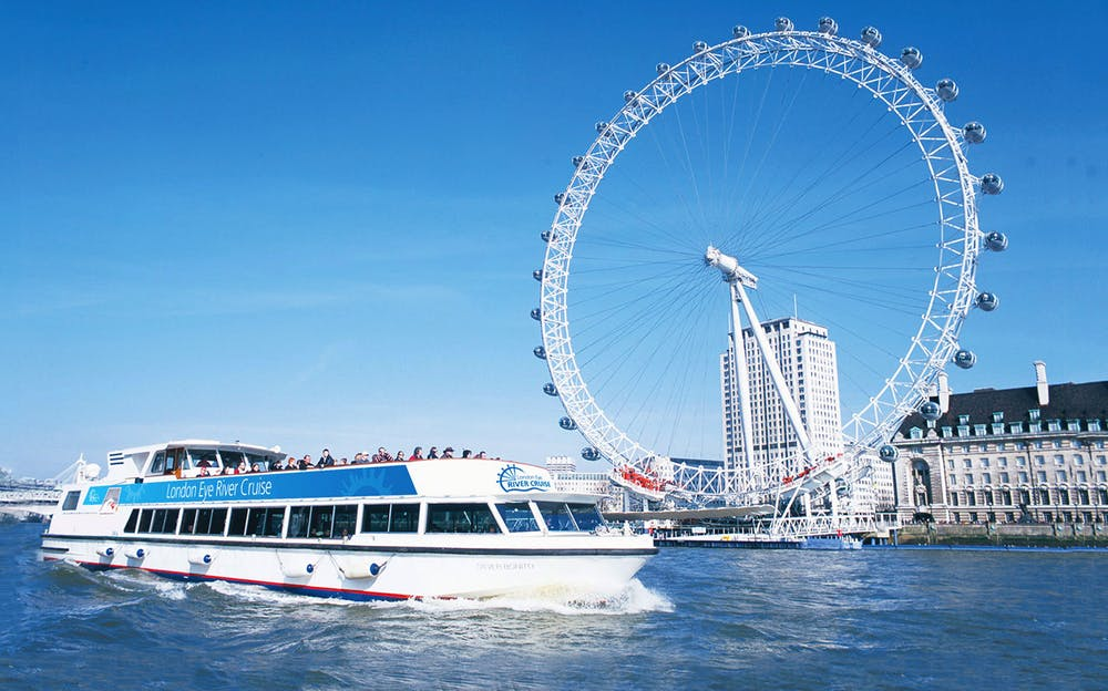London Eye and river cruise - Another view of the London Eye from the Thames River Cruise