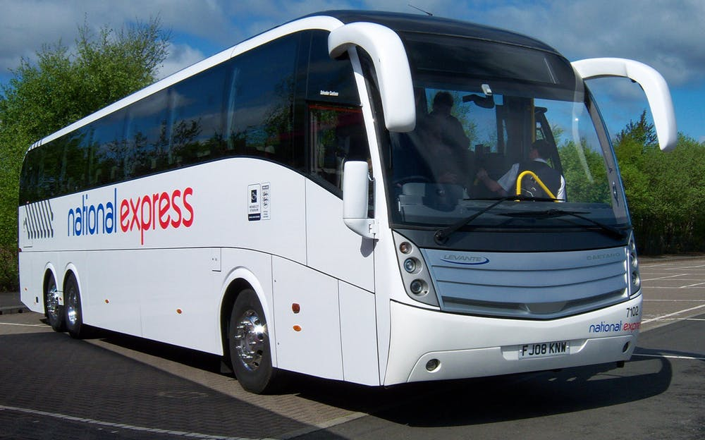 Stansted to London - A National Express Coach