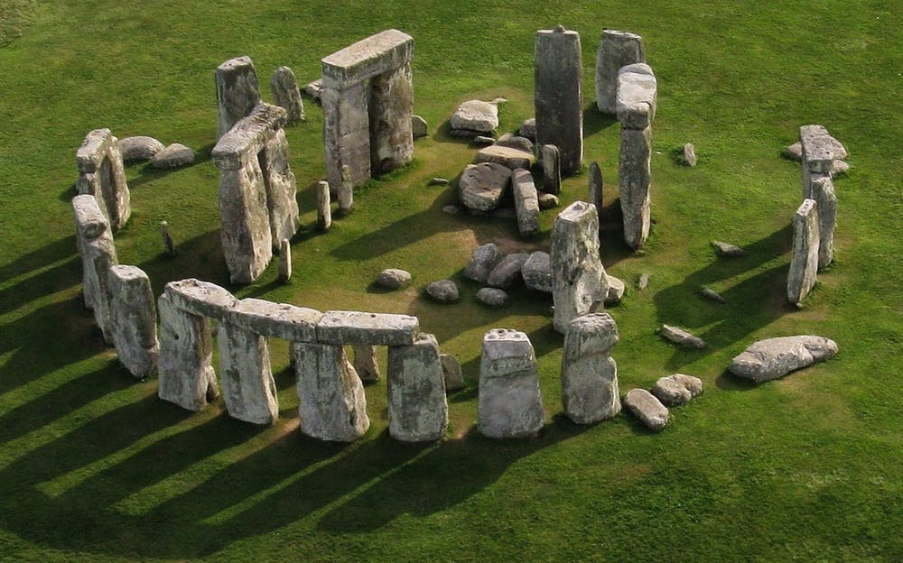Stonehenge tour - an aerial view of the standing stones of Stonehenge