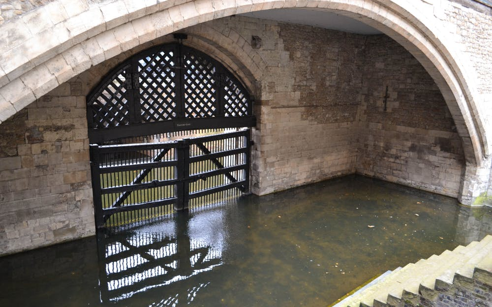 Tower of London crown jewels - The infamous Traitor's Gate