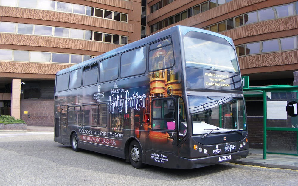 Warner Bros Studio Tour - Travel aboard the Harry Potter luxury coach to and from the studio