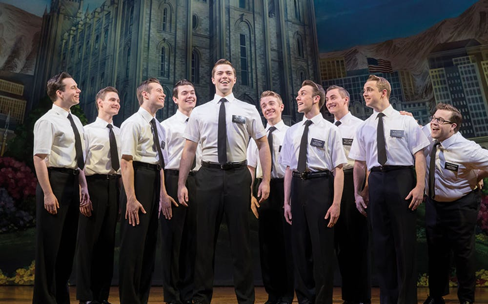 The Book of Mormon London - The cast on stage!