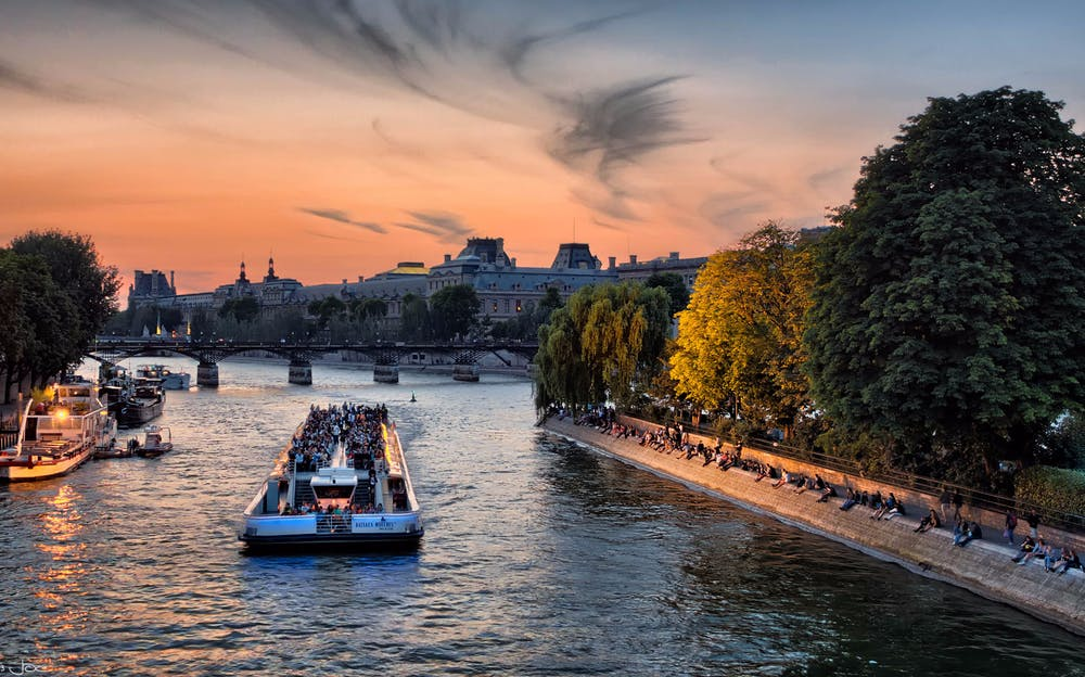Fine dining on the Seine on the Paris Crazy Horse with Bateaux Mouches Dinner Cruise