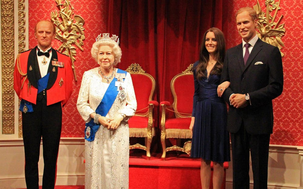 London Eye and Madame Tussauds Tickets - Life-like wax figures of the Royal Family at Madame Tussauds