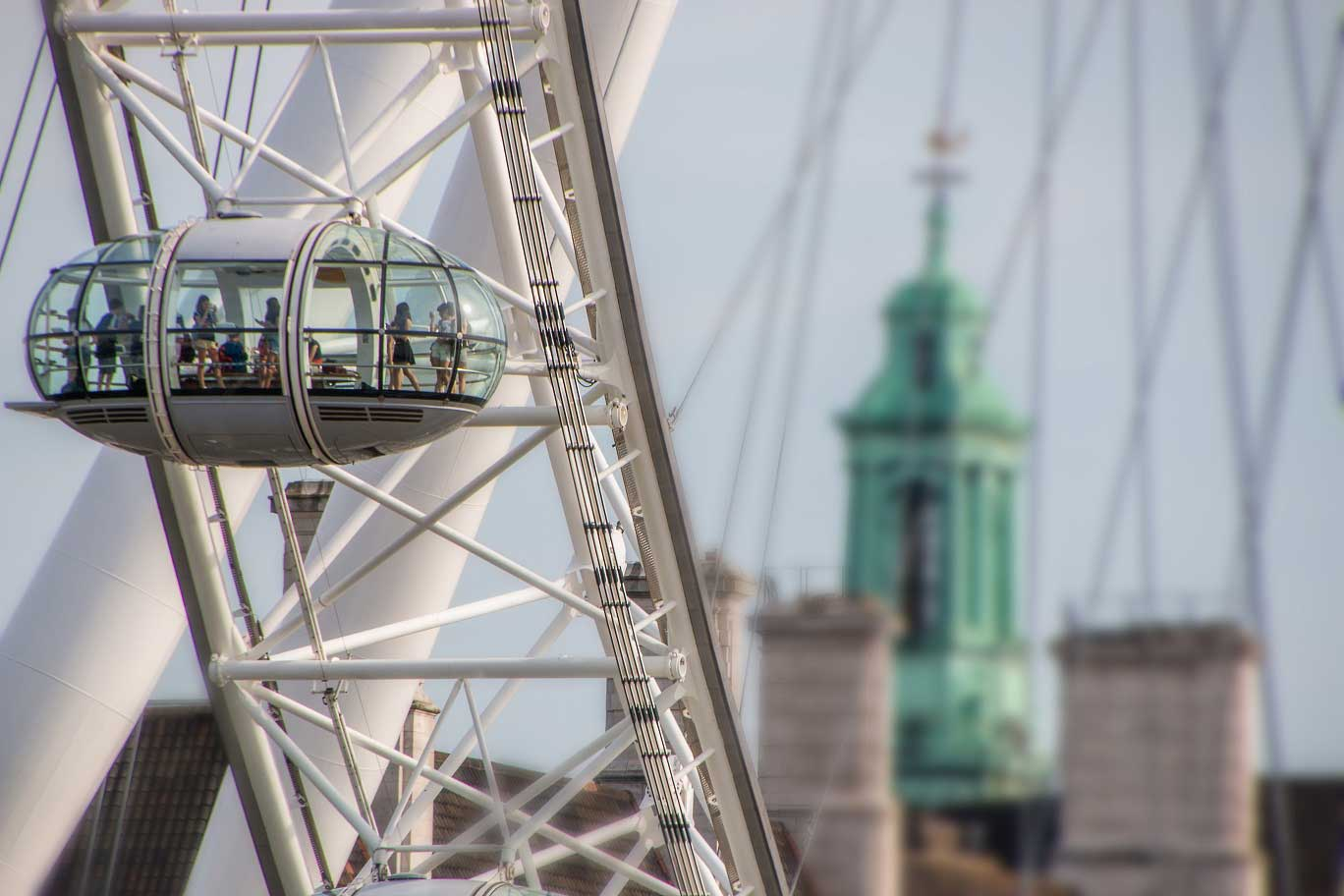 London Eye Tickets - Visitors aboard the London Eye