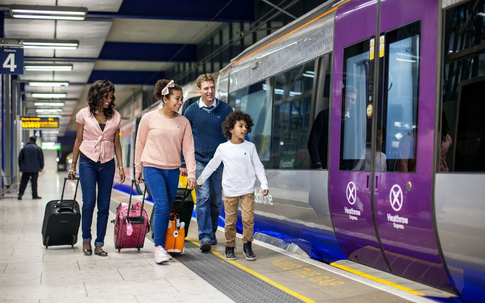 Heathrow Express Tickets - Passengers boarding an Express train