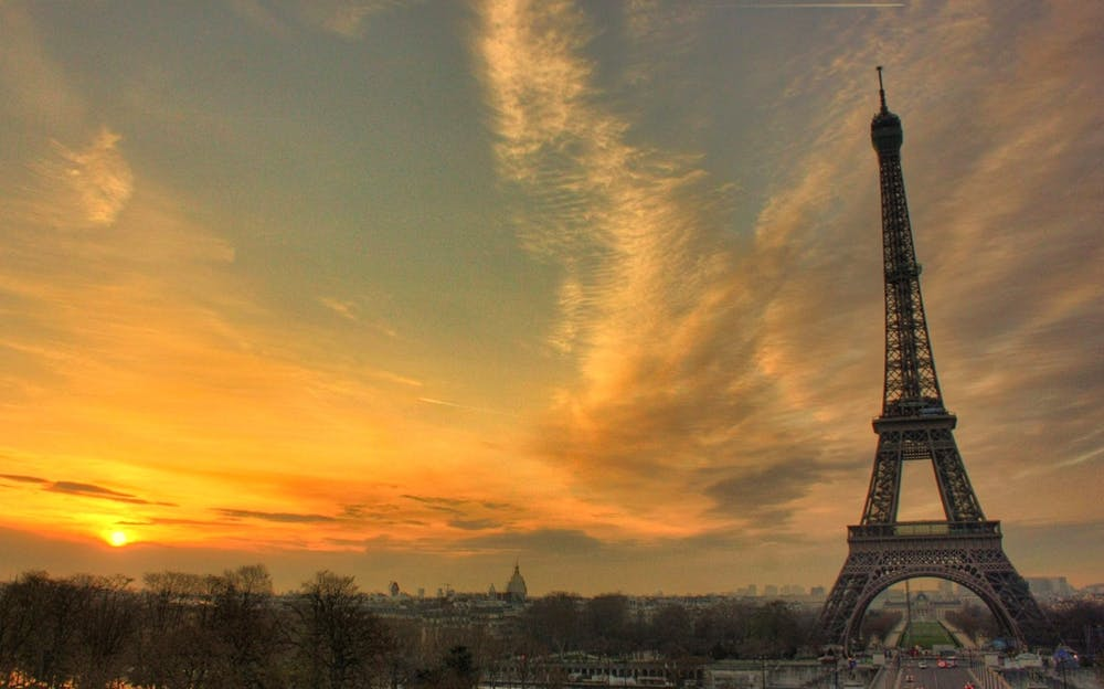 Paris by Night - The Eiffel Tower at dusk