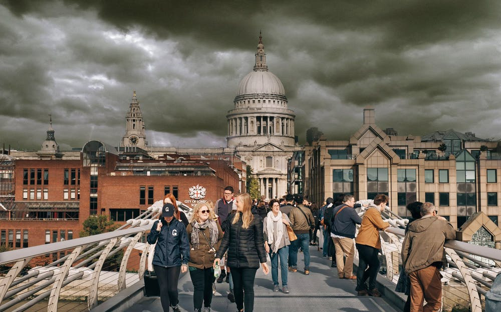 Harry Potter Walking Tour London - Follow the tour across Millennium Bridge