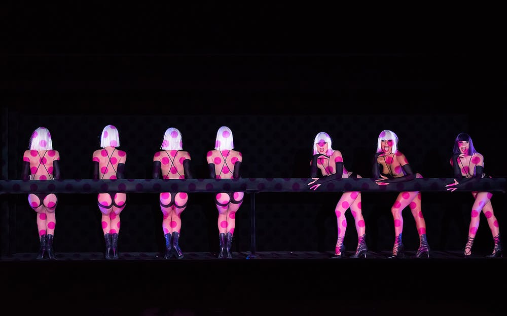 Crazy Horse Cabaret - Performers on stage at the world-famous Crazy Horse