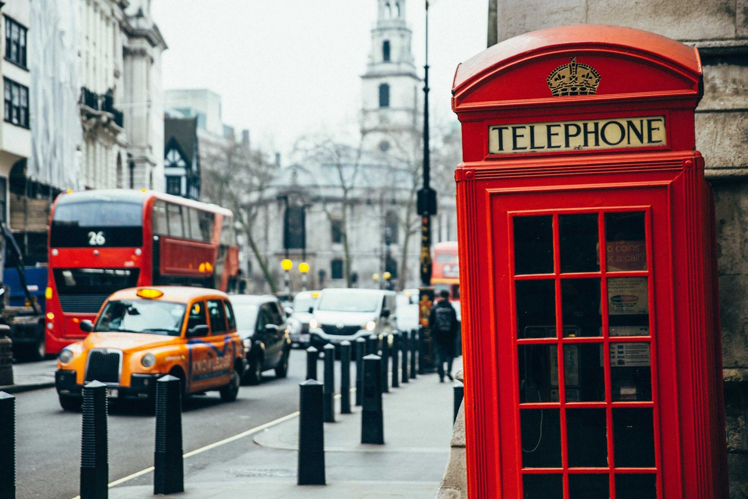 6 Day London Pass with Travel Card - A red London telephone box