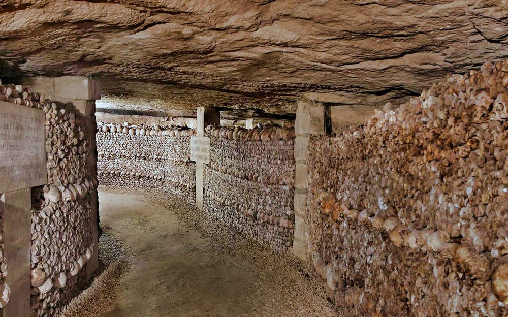 Paris Catacombs tickets - Walls of bones inside the Catacombs