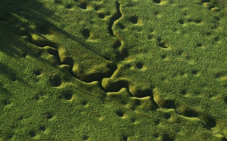 Somme battlefield tour - The trenches as seen from above