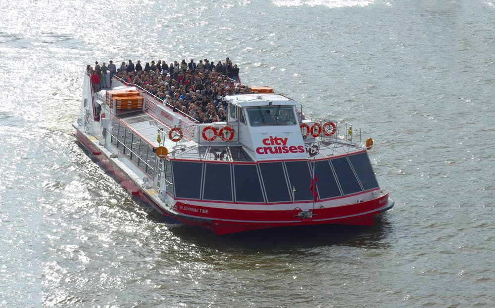 Thames Cruise and Kew Gardens combo - A boat cruising along the River Thames