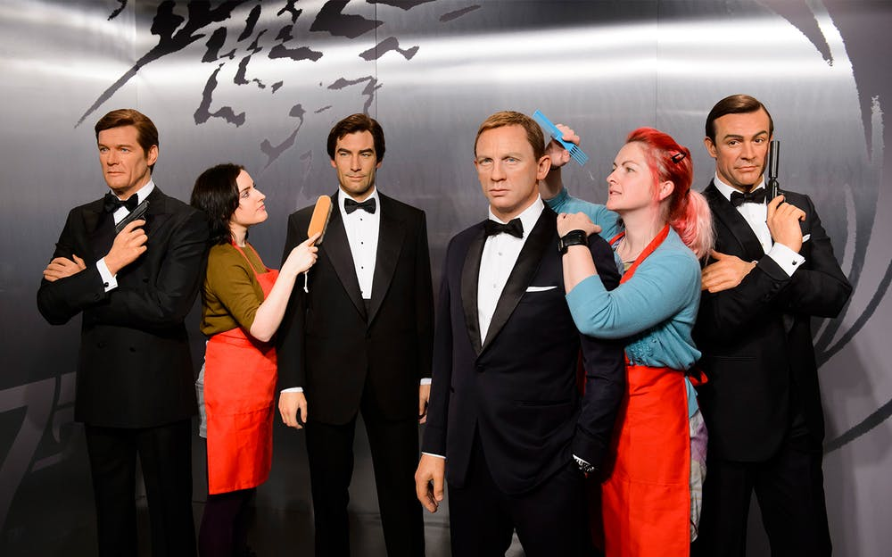 Madame Tussauds and River Cruise - The many faces of James Bond at Madame Tussauds