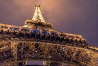 Eiffel Tower After Dark with Seine Champagne Cruise