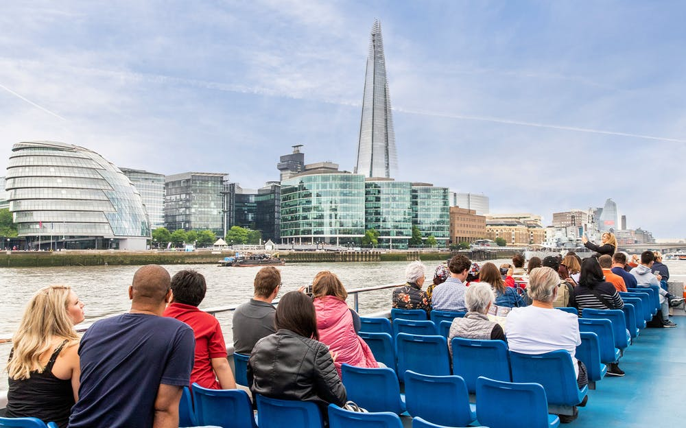 Thames circular cruise - A view of The Shard from a River Thames sightseeing boat