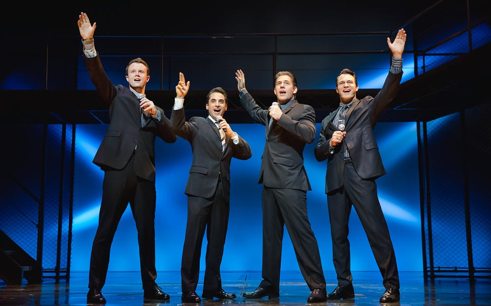 Jersey Boys New York - Hear classics by Frankie Valli and The Four Seasons